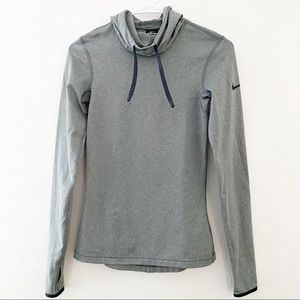 Nike | Dri Fit Hooded Pull Over Long Sleeve Top